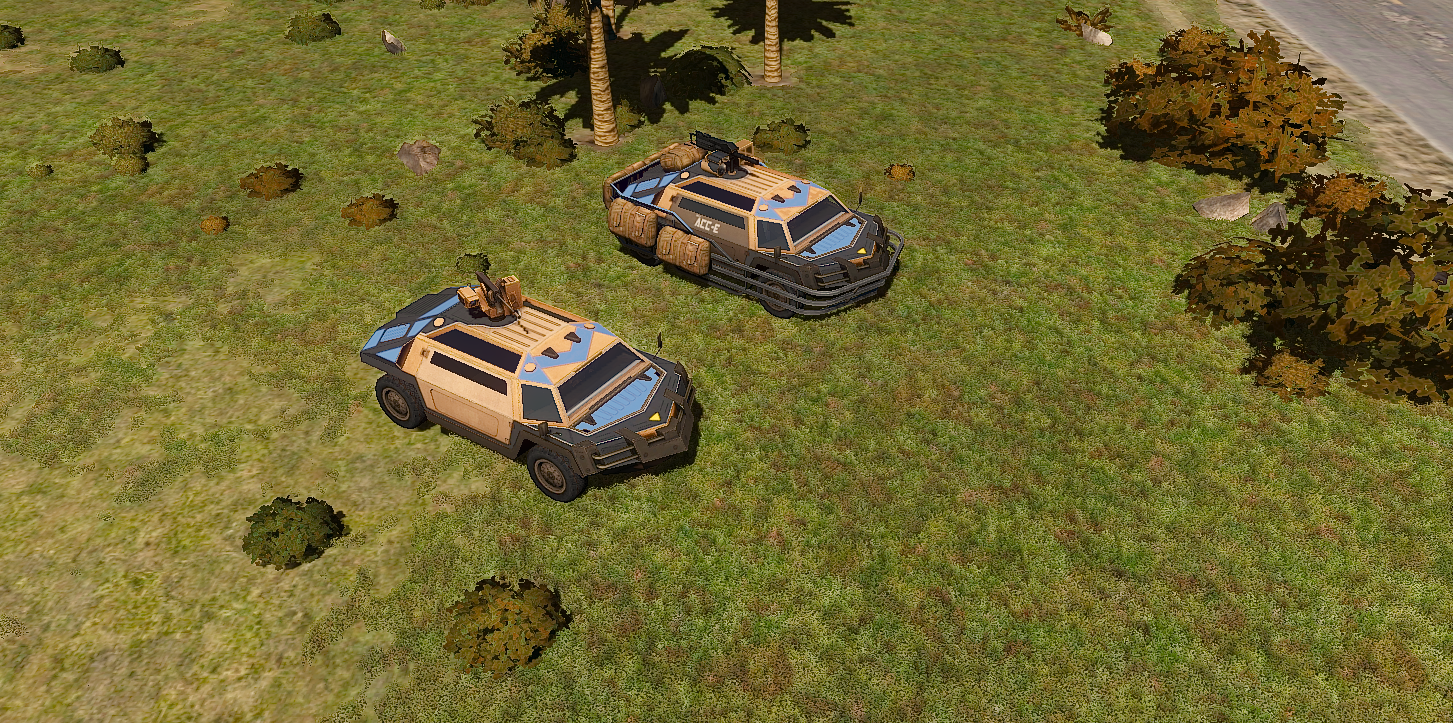 """ACCE troop transport (""""vanilla"""" and TUSK upgrade)"""