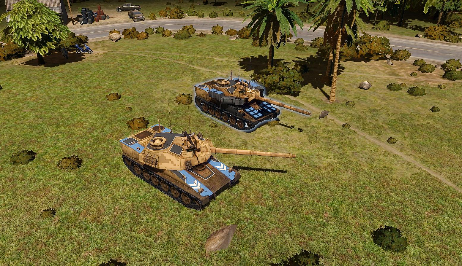 """Thunderbolt light tank  (""""vanilla"""" & TUSK upgrade)"""
