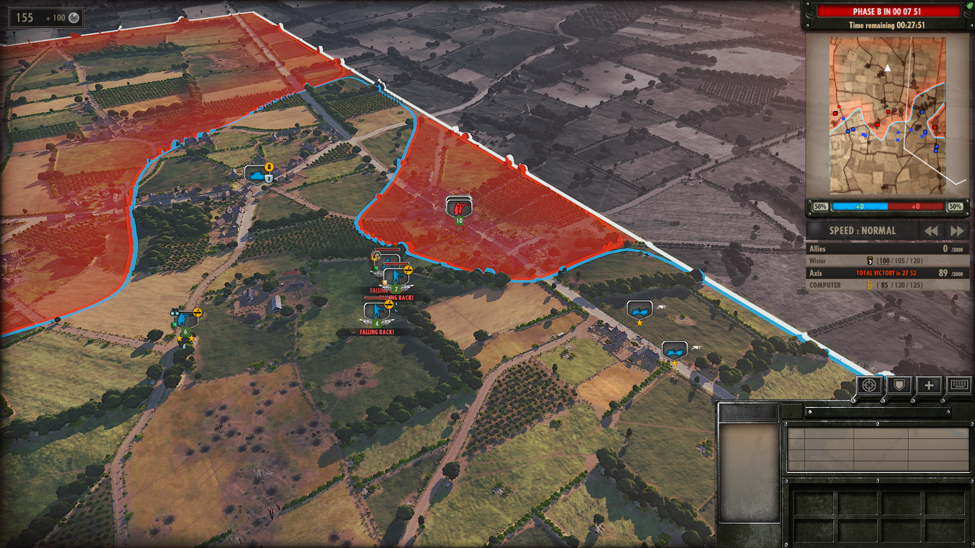 Steel Division : Normandy 44, Dynamic Front Line