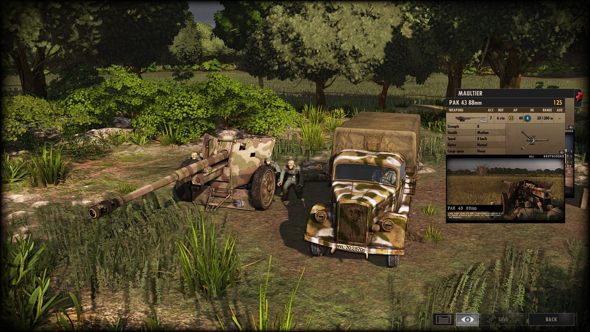 Steel Division: Normandy 44 - Anti-tank gameplay AT Gun