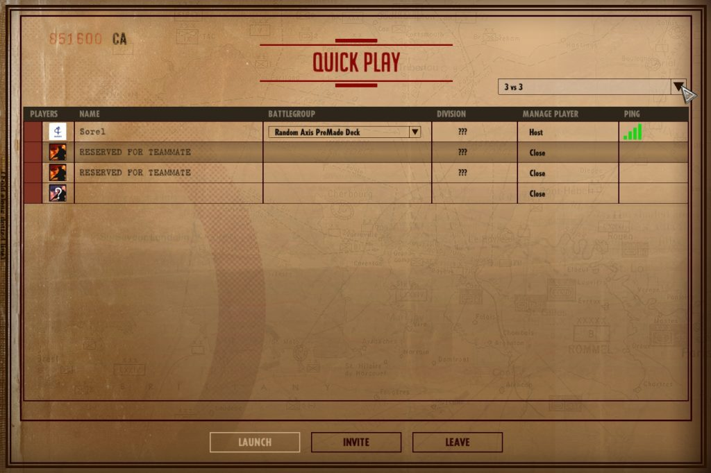 Steel Division: Normandy 44 Matchmaking