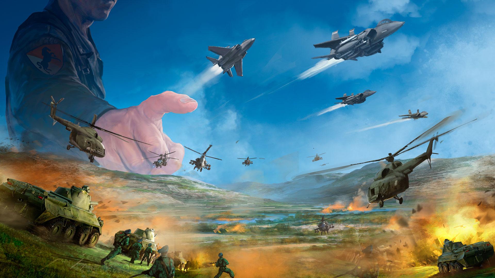 Eugen Systems RTS Wargame Airland Battle Game Presentation Background