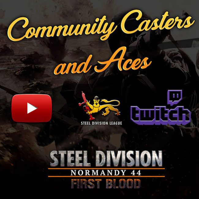 First Blood Steel Division League Casters Aces Blog background